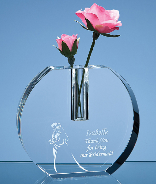 Large image for 12cm Optical Crystal Round Bud Vase