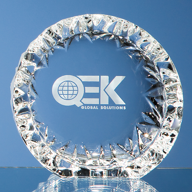 Large image for 13cm Mario Cioni Lead Crystal Tech Roundel