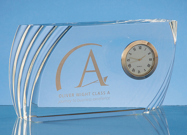 Large image for Optical Crystal Ridge Clock