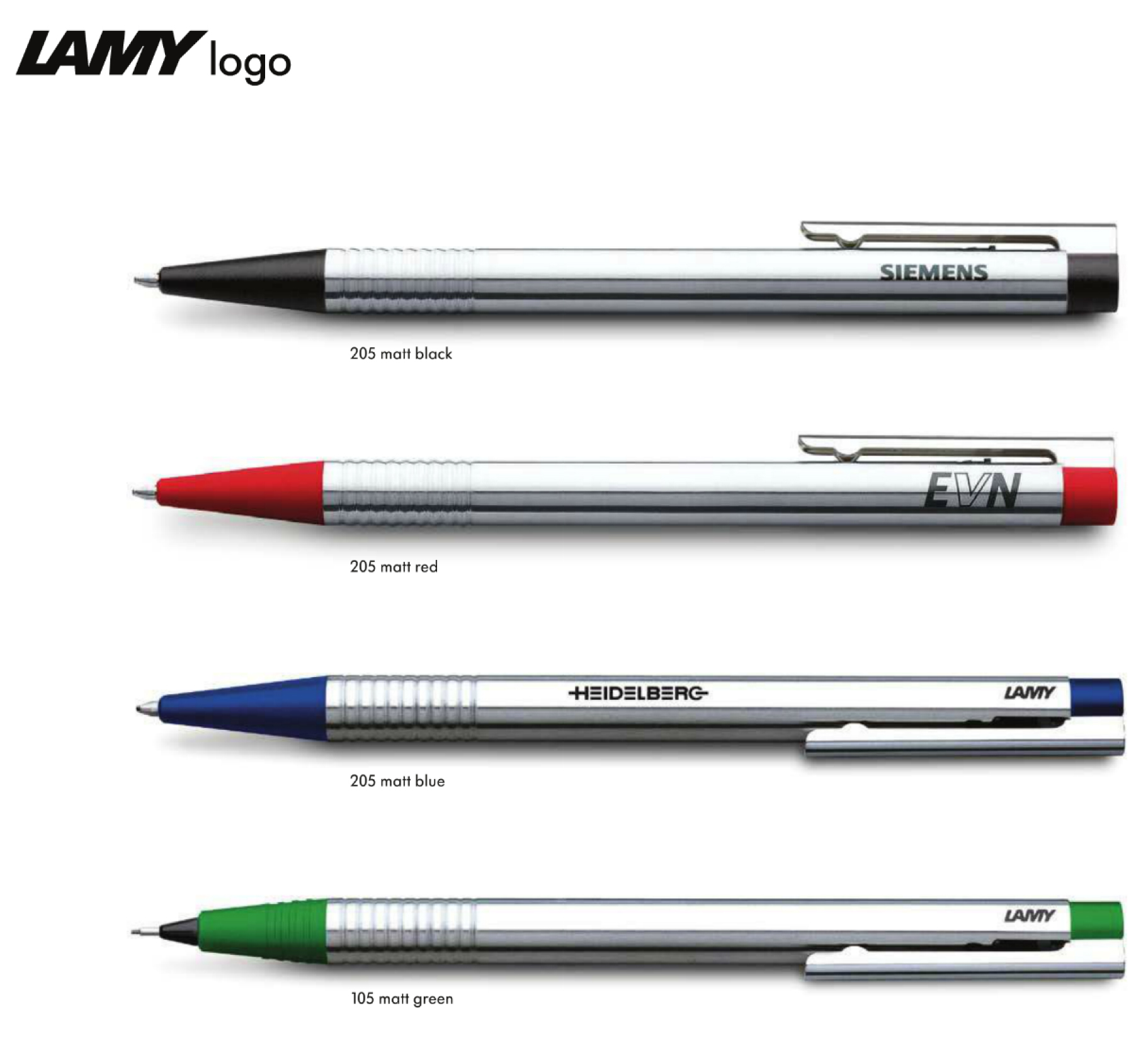 Large image for LAMY Logo 205 Branded Ballpoint Pen