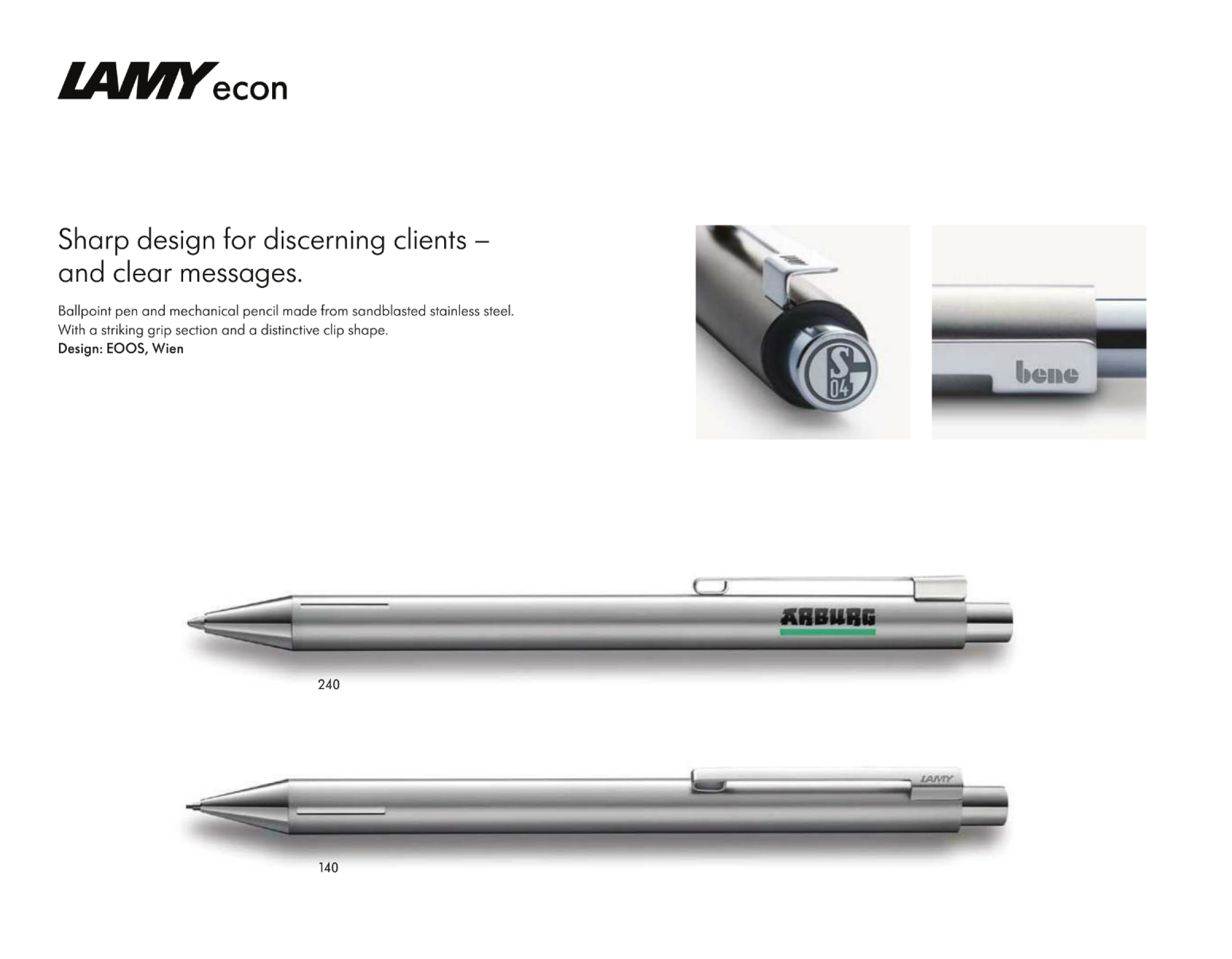 Large image for Lamy Econ Sandblasted Stainless Steel