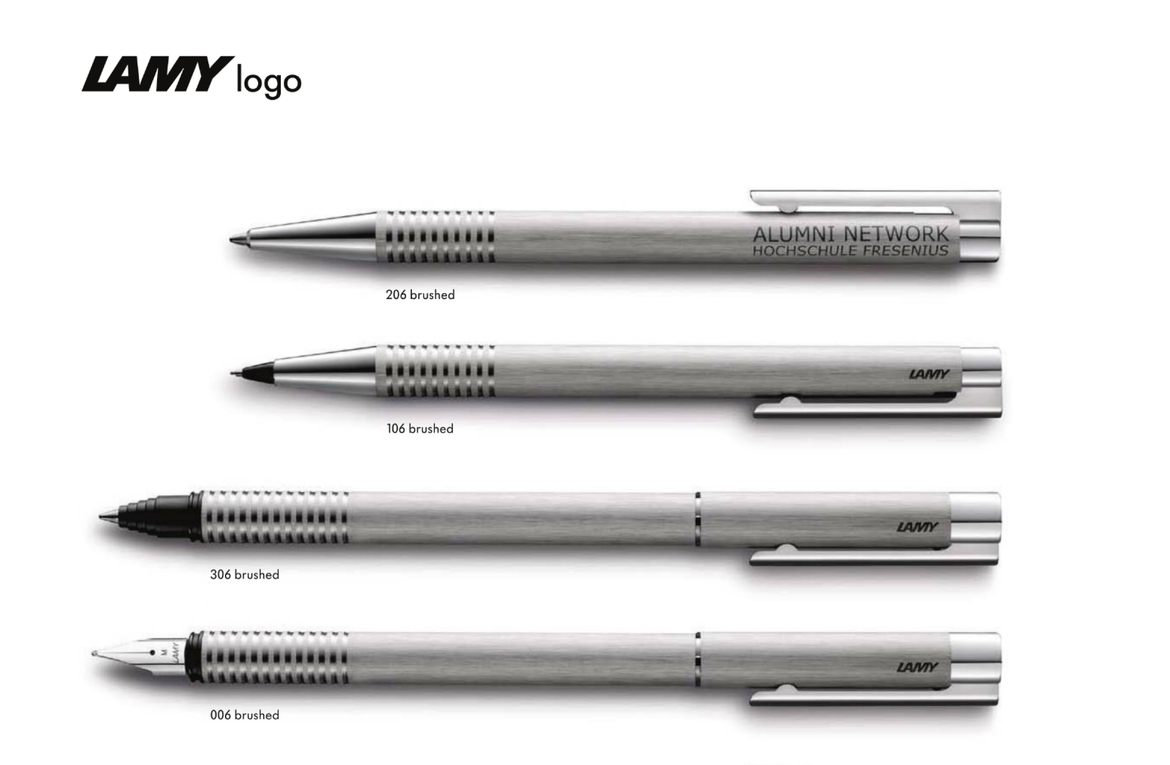 Large image for Lamy Logo Brushed Stainless Steel
