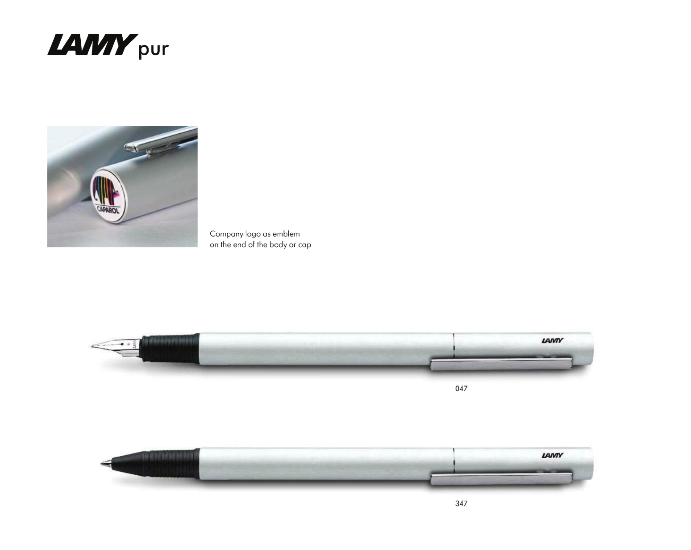 Large image for Lamy Pur with End Cap Branding