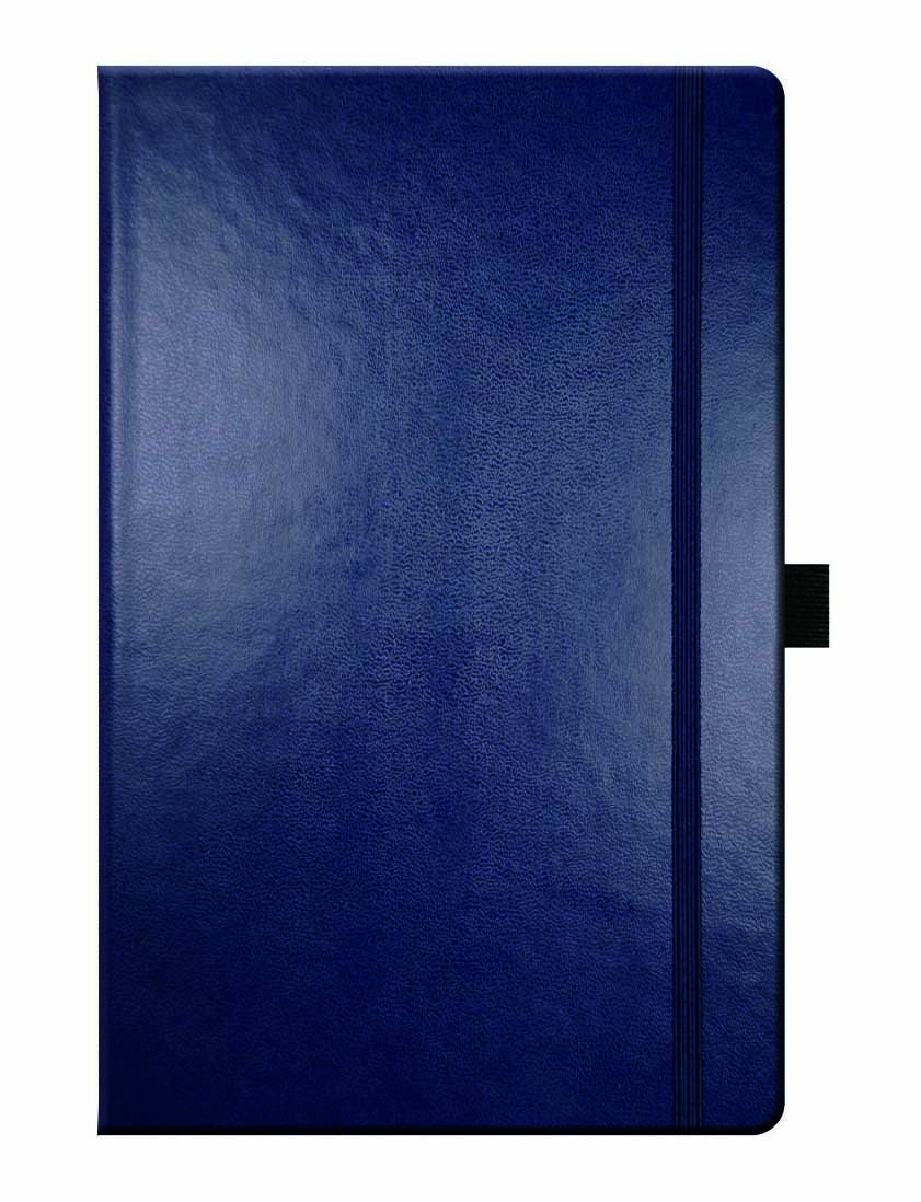 Large image for Leather Effect Blue Notebook