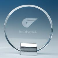 Thumbnail for 17.5cm Optical Crystal Circle Monted on a Chrome Stand