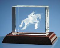 Thumbnail for Show-Jumper in 3D Optical Crystal Block