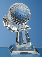 Thumbnail for Optical Crystal Golf Ball on Mounted Hand Award